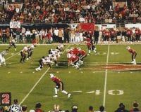Las Vegas kriminaliserar v Orlando Rage XFL-fotboll (2001) Arkivbilder