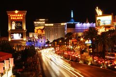 Las Vegas la nuit Photo stock