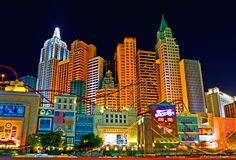 Las Vegas la nuit photographie stock