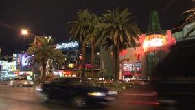 Las Vegas la nuit banque de vidéos