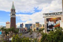 Las Vegas la striscia - allungare 4 2 miglia Fotografie Stock