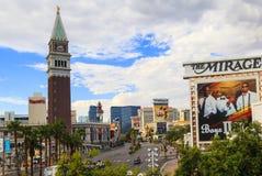Las Vegas la striscia - allungare 4 2 miglia Fotografia Stock