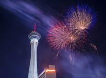 Las Vegas le 4ème juillet Photo libre de droits