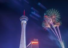 Las Vegas le 4ème juillet Image stock
