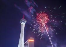 Las Vegas le 4ème juillet Image libre de droits