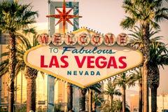 Las Vegas le acoge con satisfacción Foto de archivo libre de regalías