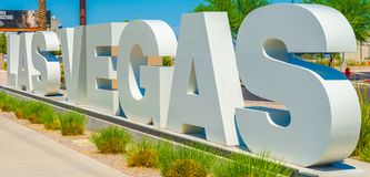 Las Vegas lettering sign royalty free stock photography