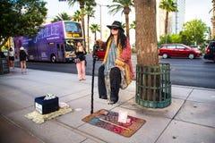 Las Vegas Levitating Street Performer Royalty Free Stock Photography
