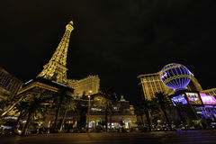 Las Vegas linia horyzontu przy nocą obrazy royalty free