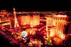Las Vegas linii horyzontu noc fotografia royalty free