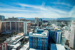 Las Vegas LINQ and Flamingo, view from High Roller Observation Wheel Stock Photo