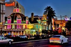 Las Vegas ljus Fotografering för Bildbyråer