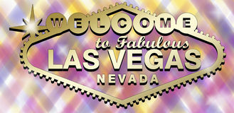 Las Vegas Logo. Sign gold Royalty Free Stock Photography