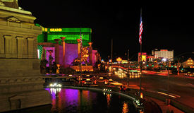 Tira de Las Vegas en la noche, Las Vegas, Estados Unidos fotografía de archivo