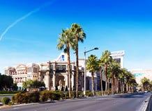 LAS VEGAS, LOS E.E.U.U. - 31 DE ENERO DE 2018: Vista de la calle de Las Vegas en el d3ia Copie el espacio para el texto fotografía de archivo libre de regalías