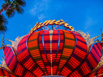 Hotel del fenicottero e posto di gioco sulla striscia di Las Vegas Fotografia Stock Libera da Diritti