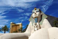 Statua della Sfinge dal casinò dell'hotel di Luxor Immagini Stock
