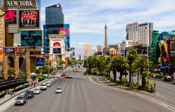 Una vista della striscia di Las Vegas Immagini Stock Libere da Diritti