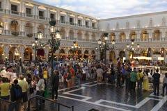 Het kanaal Shoppes in de Venetiaan in Las Vegas, NV op 30 Maart, Royalty-vrije Stock Afbeeldingen