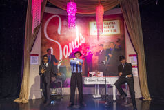 Las Vegas ,  Madame Tussauds. LAS VEGAS - OCT 23 : A waxwork of the Rat Pack at The Madame Tussauds museum in Las Vegas on October 23 2015 , The two-floor 30,000 Stock Image