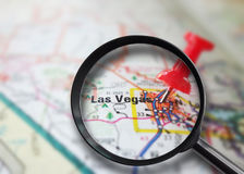 Las Vegas magnified Stock Photo