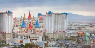 LAS VEGAS - MAJ 13 det Excalibur hotellet och kasinot Arkivfoto