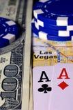 Las Vegas on map. stock image