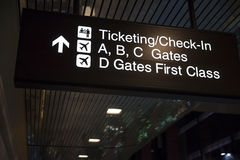 Check in sign at McCarren in Las Vegas, NV on March 06, 2013. LAS VEGAS - March 06, 2013 - McCarren International Airport on March 06, 2013  in Las Vegas Stock Image