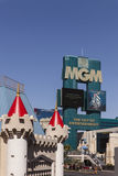 The MGM sign, in Las Vegas, NV on March 05, 2013. LAS VEGAS - MARCH 5, 2013 - The MGM sign on March 5, 2013  in Las Vegas. MGM recently announced they are open Royalty Free Stock Image