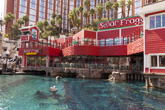 Senor Frogs restaurant at the base of Treasure Island in Las Veg. LAS VEGAS - MARCH 30, 2013 - Senor Frogs MEWxican Restaurant on MARCH 30, 2013  in Las Vegas Stock Photography