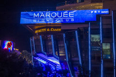 Las Vegas , Marquee Night club Stock Image
