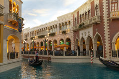 Thel Shoppes på Palazzo i Las Vegas, NV på mars 30, 2013 Royaltyfri Bild