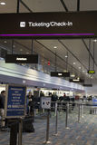 Il controllo nella zona all'aeroporto a Las Vegas, NV di McCarren su marzo Fotografia Stock Libera da Diritti