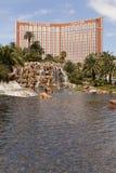 Faccia tesoro l'isola come veduto dal miraggio, Las Vegas, NV su marzo Fotografie Stock Libere da Diritti