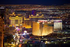 Las Vegas Nevada Night Cityscape Royalty Free Stock Images