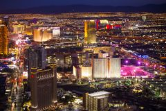 Las Vegas Nevada Night Cityscape Stock Image