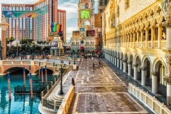 LAS VEGAS - 31- MAY 2017 - Unkown people walk in The Venetians C Stock Photo