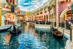 LAS VEGAS - 31- MAY 2017 - Unkown people walk in The Venetians C Royalty Free Stock Photo