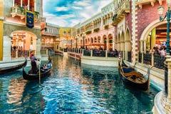 LAS VEGAS - 31 - MEI 2017 - Unkown-mensengang in de Venetianen C royalty-vrije stock foto