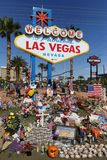 Las Vegas memorial at historic Welcome sign Stock Images