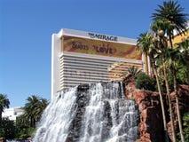 Las Vegas Mirage Hotel and Casino. Image of the Mirage Hotel and Casino from a fountain on the Vegas strip in Las Vegas, Nevada Royalty Free Stock Image