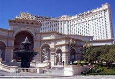 Las Vegas Monte Carlo Hotel. Image of the fountain at the Montecarlo Hotel on the Vegas strip in Las Vegas, Nevada Royalty Free Stock Photo