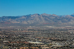Las Vegas and Mountain Ranges. Stock Photography
