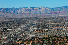 Las Vegas and Mountain Ranges. Royalty Free Stock Photo