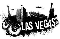 Las Vegas Music background Stock Images