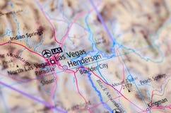Las Vegas na mapie zdjęcia royalty free