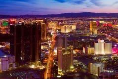 Las Vegas na noite Fotografia de Stock