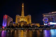 Las Vegas na noite Fotos de Stock Royalty Free