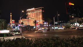Las Vegas na noite video estoque