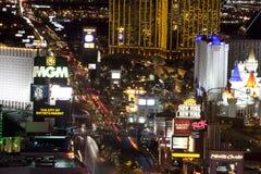 Las Vegas nachts Lizenzfreie Stockfotografie